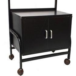 OUTLET Mobilna szafka pomocnik kosmetyczna na kółkach Drewno Czarna