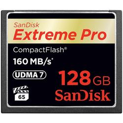 Karta pamięci SanDisk Compact Flash Extreme PRO 128GB (CF) 160MB/s 1067x