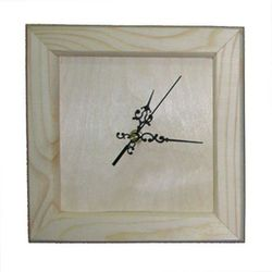 Drewniany zegar z mechanizmem 21,5x21,5 cm - 21,5X21,5CM