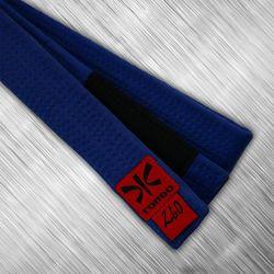 pas niebieski jiu-jitsu z czarnym panelem, 4cm