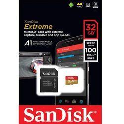 Karta pamięci microSDHC SanDisk EXTREME 32GB 100/60 MB/s A1 Class 10 V30 UHS-I U3
