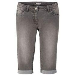 Dżinsy SKINNY z wywijanymi nogawkami i paskiem bonprix bordowy