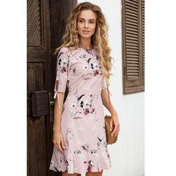 M381 Sukienka pudrowa