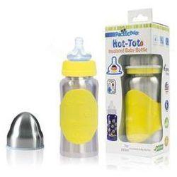Butelka dla niemowląt Pacific Baby Hot-Tot 200ml Srebrna/Żółta