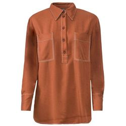 Shirt bonprix czerwone złoto melanż