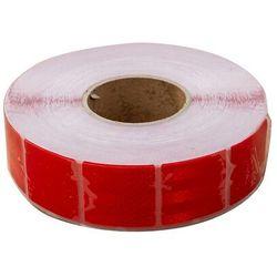 Taśma odblaskowa konturowa czerwona w segmentach - rolka 45 m