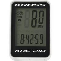 Liczniki rowerowe, Komputerek Kross KRC 218 18-funkji przewodowy czarno-biały