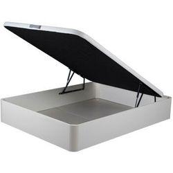Stelaż ze skrzynią ONIRY z ekoskóry marki DREAMEA Play - 140x190 cm - biały mat