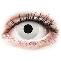 Soczewki kontaktowe, Soczewki kolorowe srebrne MIRROR Crazy Lens 2 szt.
