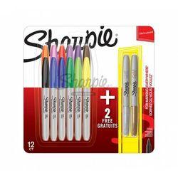 Markery Permanentne Sharpie 12 + 2 Kolorów Fine