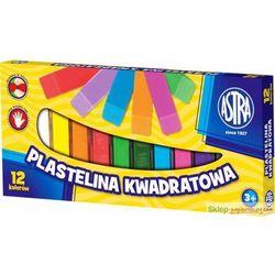 Plastelina ASTRA kwadratowa 12 kolorów