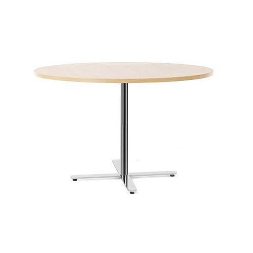 Meble do restauracji i kawiarni, Stół Tilo, Ø1200x720 mm, chrom, brzoza