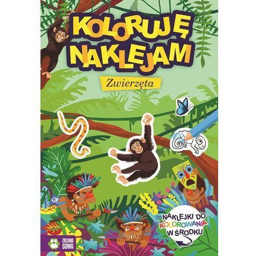 Książki dla dzieci, Koloruję i naklejam Zwierzęta (opr. miękka)