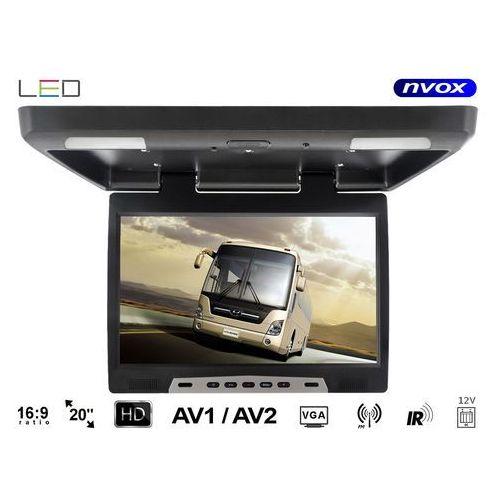 """Monitory samochodowe, NVOX Monitor podsufitowy podwieszany LED 20"""" z IR FM VGA 12V - DARMOWA DOSTAWA!!!"""