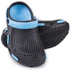 Spokey Fliper - klapki basenowe dziecięce r.33 (czarno-niebieski)