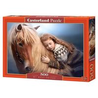Puzzle, Puzzle 500 el.: My Best Friend - Castor. DARMOWA DOSTAWA DO KIOSKU RUCHU OD 24,99ZŁ