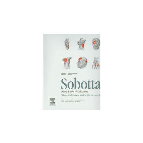 Książki medyczne, Atlas anatomii człowieka Sobotta. Tablice anatomiczne mięśni, stawów i nerwów (opr. miękka)