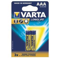 Baterie Varta LongLife AAA 2x + Bezpłatna natychmiastowa gwarancja wymiany!