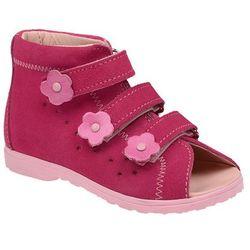 Sandałki Profilaktyczne Ortopedyczne Buty DAWID 1041 Różowe RC - Różowy ||Fuksja ||Multikolor