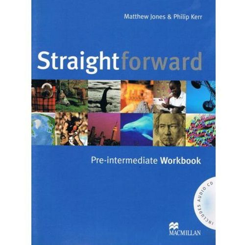 Książki do nauki języka, Straightforward Pre-Intermediate. Ćwiczeia Bez Klucza + CD (opr. miękka)