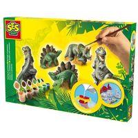 Kreatywne dla dzieci, Zestaw do wykonania odlewów gipsowych 3D Dinozaury