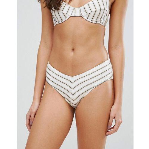 Stroje kąpielowe, Zulu & Zephyr Stripe V High Waisted Bikini Bottom - Multi
