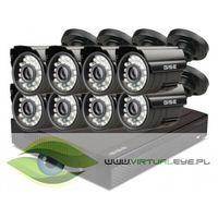 Zestawy monitoringowe, Zestaw 4w1, 8x Kamera HD/IR20, Rejestrator 8ch