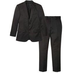Garnitur (2 części): marynarka + spodnie bonprix antracytowy w paski