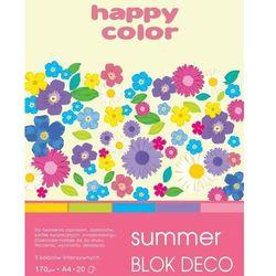 Blok A5/20K Deco Summer 170g HAPPY COLOR - GDD