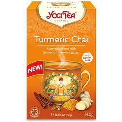 Herbatka ZŁOTY CHAI Z KURKUMĄ BIO (17 x 1,8 g) Yogi Tea