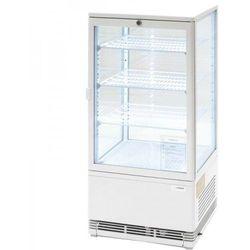 Witrynka ekspozycyjna chłodnicza 78 l LED biała STALGAST 852173