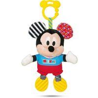 Grzechotki i gryzaki, Clementoni pluszowa grzechotka Myszka Miki z dźwiękami i uchwytem