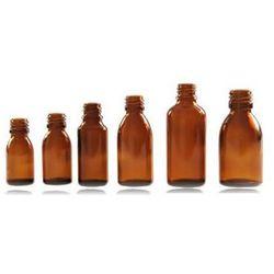Butelki apteczne 4 x 100 ml szkło brązowe