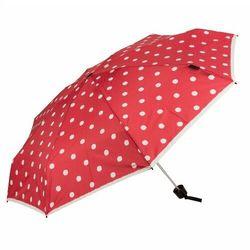 Knirps T.010 small manual Parasolka składana 18 cm dot art red ZAPISZ SIĘ DO NASZEGO NEWSLETTERA, A OTRZYMASZ VOUCHER Z 15% ZNIŻKĄ