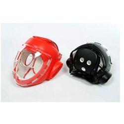 Czerwony kask z maską - sztuczna skóra (GTTB109AR-S)