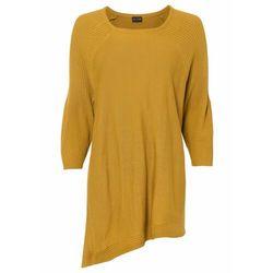 Sweter oversize bonprix miodowy