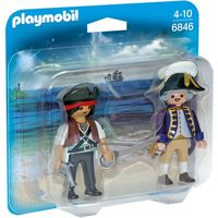 Klocki dla dzieci, Playmobil PIRATES Duo pack pirat i żołnierz 6846 - BEZPŁATNY ODBIÓR: WROCŁAW!