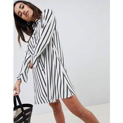 ASOS DESIGN stripe long sleeve shirt dress - Multi