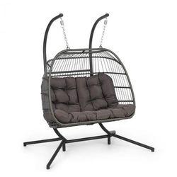 Blumfeldt Biarritz Double, fotel wiszący, dwuosobowy, poduszka na siedzisko, 240 kg, ciemnoszary