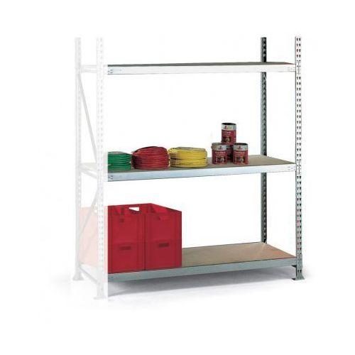 Regały warsztatowe, Regał półkowy, nośność 600 kg, 2500x2200x800 mm, dodatkowy