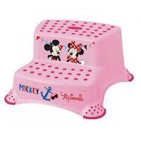 """Podesty dla dzieci, OKT Dwustopniowy podnóżek """"Mickey&Minnie"""", Pink - BEZPŁATNY ODBIÓR: WROCŁAW!"""