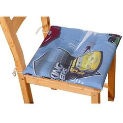 Dekoria Siedzisko Karol na krzesło, samochody na niebieskim tle, 40x40x3,5cm, Freestyle do -30%