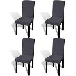 vidaXL Elastyczne pokrowce na krzesło antracytowe 4 szt. Darmowa wysyłka i zwroty