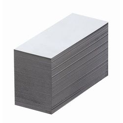 Magnetyczna tablica magazynowa, białe, wys. x szer. 15x80 mm, opak. 100 szt. Zap