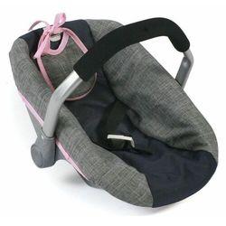 Bayer Chic Fotelik samochodowy dla lalek, niebiesko-szaro-różowy