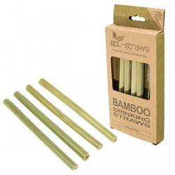 ECOSTRAWZ Zestaw 4x: Bambusowe wielorazowe słomki do picia 145mm + czyścik