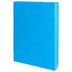 Teczka z gumką przestrz. OFFICE PRODUCTS, preszpan, A4/40, 450gsm, niebieska