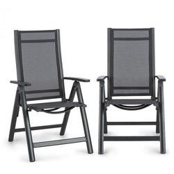 Blumfeldt Cádiz Krzesło składane zestaw 2 sztuk 59,5 x 107 x 68 cm ComfortMesh antracytowy
