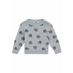 Sweter niemowlęcy bonprix szary stalowy