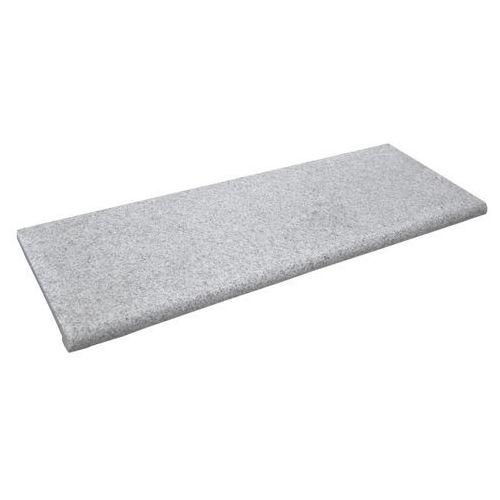 Schody, Element granitowy Knap 1000 x 350 x 20 mm z kapinosem szary